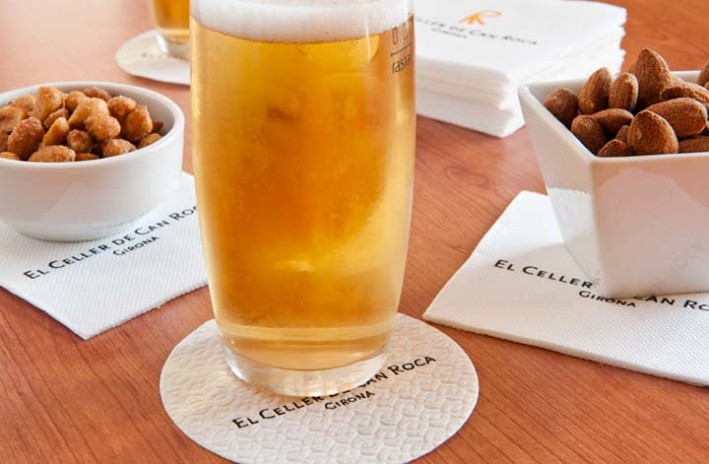 "A beer in El Celler de Can Roca. Got the ""Best Restaurant Award"" from the Diners Club World's 50 Best Restaurants Academy 2013 and 2015 awards edition."