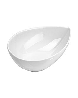 """mini containers """"tear"""" 15x10,8x5,1 cm white porcelain (6 unit)"""