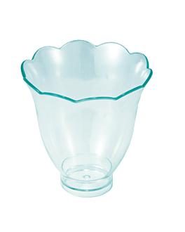 mini vasos pÉtalo 70 ml Ø 5,8x6,2 cm verde agua ps (288 unid.)
