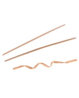 fermetures sachets 9,5 cm naturel kraft (100 unitÉ)