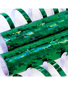 2x18 serpentinas 7mmx4m verde papel (1 unid.)