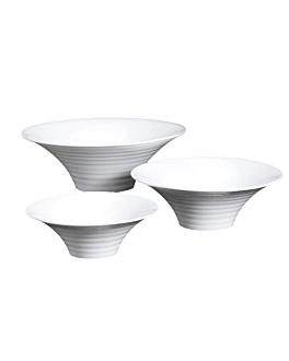 bols striÉs 2000 ml Ø 30,6x10,5 cm blanc porcelaine (1 unitÉ)