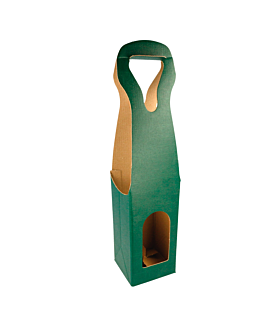 100 u. cajas 1 botella 9x9x41 cm verde cartÓn (100 unid.)