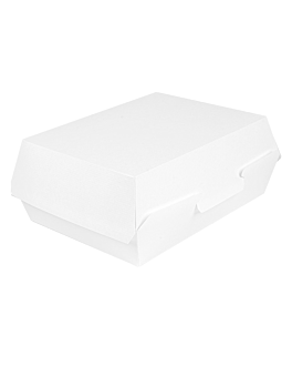 lunch box 'thepack' 230 gsm 22,5x17x8,5 cm white nano-micro corrugated cardboard (300 unit)