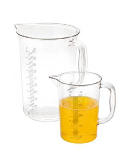 measuring jug 1 l Ø 11,5x16,5 cm clear polycarbonate (1 unit)