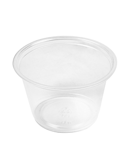 small microwavable containers 120 ml Ø7,4x4,6 cm clear pp (2500 unit)