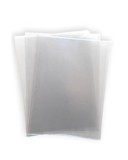3 fundas dobles para porta menÚs 47,7x32 cm transparente pvc (1 unid.)