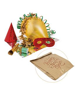 cotillon en sachets papier 'eco royale' 26+8x35 cm assorti (1 unitÉ)