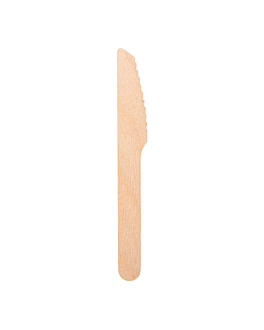 knives 14 cm natural wood (100 unit)