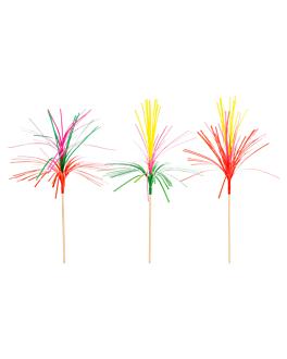 """dÉcors glaces """"palmiers"""" 15 (h) cm assorti bois (100 unitÉ)"""