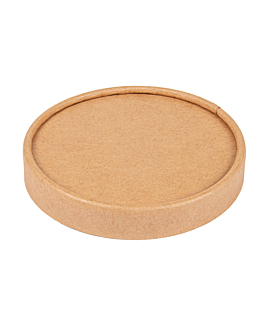 lids for ice-cream tubs 240 ml 280 + 18 pe gsm Ø9,4 cm brown cardboard (1000 unit)