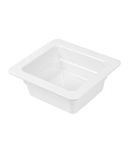 gn pans 1/6 6,5 (h) cm white melamine (6 unit)