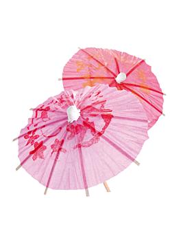 "ice cream decorations ""indonesian parasol"" Ø 9x10 cm assorted wood (144 unit)"