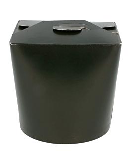 noodle boxes 960 ml 305 + 18 pe gsm Ø9x10,8 cm black cardboard (50 unit)