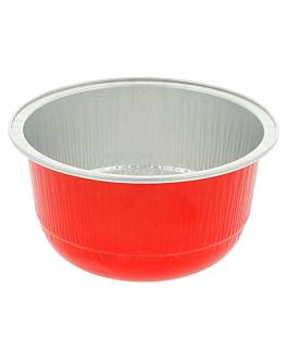 recipientes pastelerÍa 150 ml Ø 8,5x4,3 cm rojo aluminio (100 unid.)