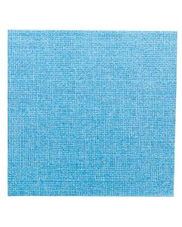 napkins 'like linen - aurora' 70 gsm 40x40 cm turquoise spunlace (600 unit)