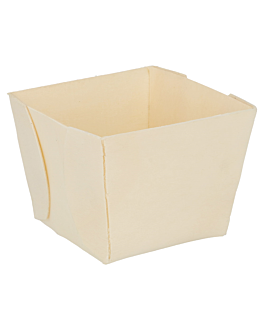 square containers 7x7x5,5 cm natural wood (500 unit)