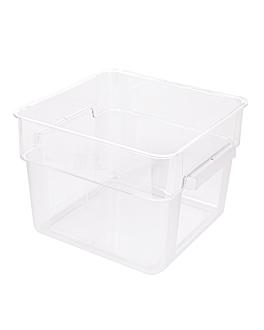 contenitore alimenti 12 l 28,5x28,5x21 cm trasparente policarbonato (1 unitÀ)