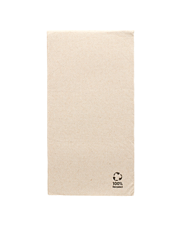 guardanapos ecolabel dobrados 1/6 'double point' 19 g/m2 30x40 cm natural tissue reciclado (1800 unidade)
