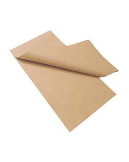 tablecloth folded m 48 gsm 100x100 cm natural recycled paper (200 unit)