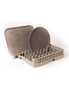 rack bandejas > 45 cm (abierto 1 lado) 50x50x10 cm beige pp (1 unid.)