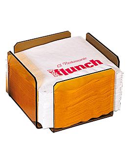 dispensador tovallons 17,5x17,5x11 cm rosa/fumat metacrilat (2 unitat)