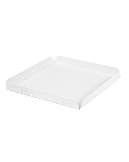 cuadrados con pestaÑas 19x19x2 cm blanco cartÓn (250 unid.)