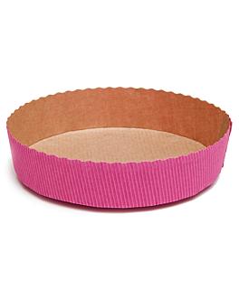 moules cuisson patisserie Ø 15,5x3,5 cm fuchsia papier (270 unitÉ)