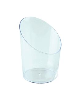 mini verres tube 30 ml Ø 3,5x3,2x5,5 cm vert d'eau ps (500 unitÉ)