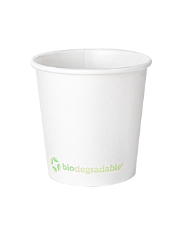 single wall hot drink cups 'biodegradable' 120 ml 170 + 30 pla gsm Ø6,2/4,5x6 cm white cardboard+pla (1000 unit)