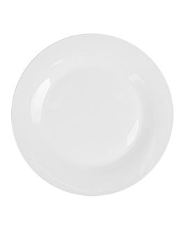 piatti piani Ø 27 cm bianco porcellana (24 unitÀ)
