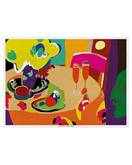 "table mats offset ""toast"" 70 gsm 31x43 cm four coloured paper (2000 unit)"