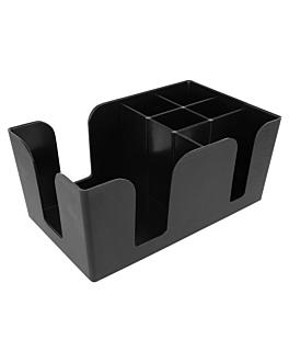 organizador de barra 24x14,5x10,5 cm negro plÁstico (1 unid.)
