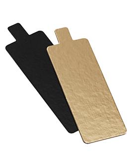 cartones pastelerÍa doble cara 950 g/m2 4,5x13 cm oro/negro cartÓn (250 unid.)