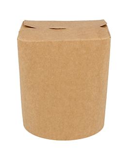 noodle boxes 480 ml 275 + 25 pe gsm Ø8x9 cm natural kraft (50 unit)