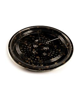 120 u. contenitoris +coperchis sushi Ø35,6x5 cm nero ps (120 unitÀ)