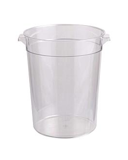 contenitore alimenti 7,5 l Ø 22,4x27,9 cm trasparente policarbonato (1 unitÀ)
