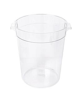 food container 7,5 l Ø 22,4x27,9 cm clear polycarbonate (1 unit)