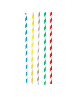 cannucce pieghevole a strisce Ø0,60x23 cm colori varie carta (250 unitÀ)