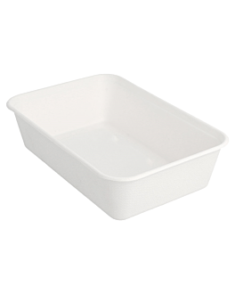 containers 'bionic' 700 ml 17,5x12x4,5 cm white bagasse (500 unit)