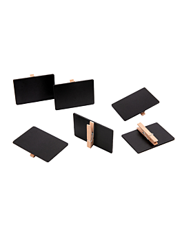 rectangular clips for chalkboard 6x9 cm natural wood (6 unit)