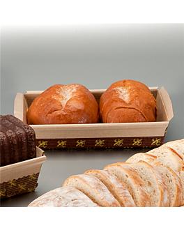 laminated baking molds 16,5x6,5x5 cm brown paper (1000 unit)