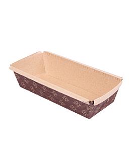 forme per cottura pasticceria laminato 16,5x6,5x5 cm marrone carta (1000 unitÀ)