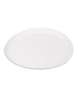 piatti goffrati pasticceria Ø 32 cm bianco cartone (50 unitÀ)