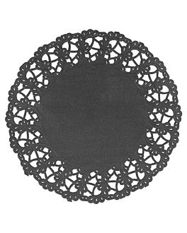 dentelles rondes ajourÉes 40 g/m2 Ø 14 cm noir papier (250 unitÉ)