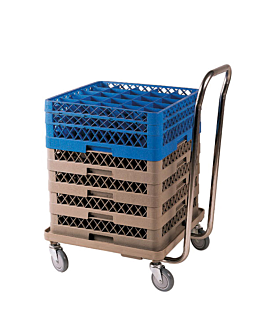 carretilla transporte de racks 54x54x81 cm beige abs (1 unid.)