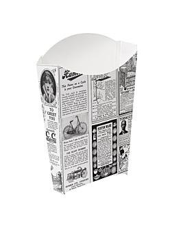 cajetillas fritas 'thepack times' 190 g 230 g/m2 14,5x9,5x18 cm blanco cartÓn ondulado nano-micro (1200 unid.)