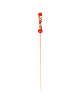 "picks ""perla"" 12 (h) cm rojo bambÚ (100 unid.)"
