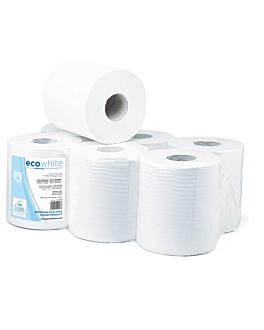 """essuie-mains """"maxi-barril"""" ecolabel 2 plis - 400 feuilles 19 g/m2 Ø 19x21,6 cm blanc ouate (6 unitÉ)"""