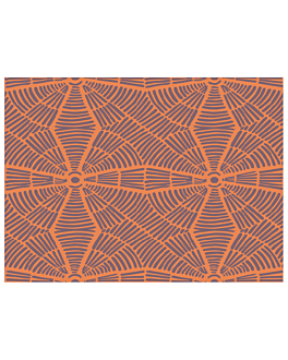 """set de table """"zebre"""" 55 g/m2 30x40 cm terracote dry tissue (800 unitÉ)"""